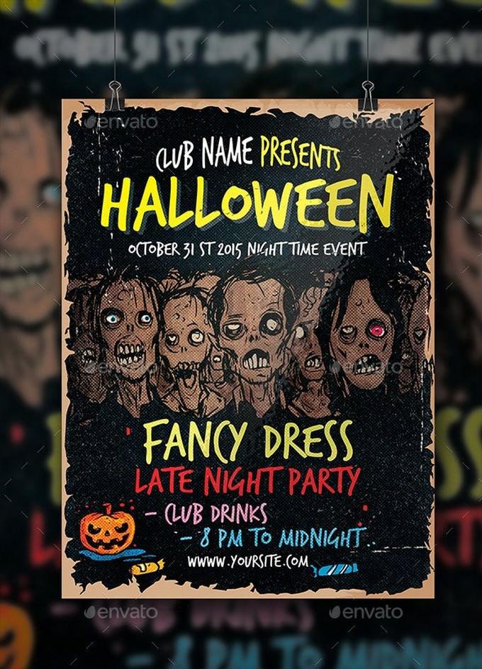 Club Halloween Zombie Template