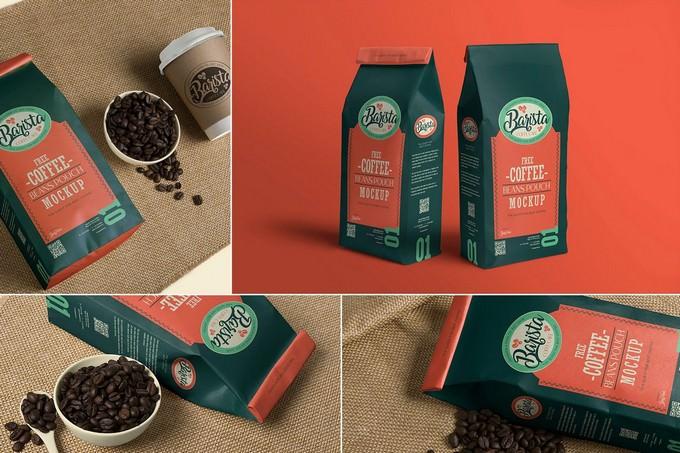 Coffee Pouch Mockup PSD