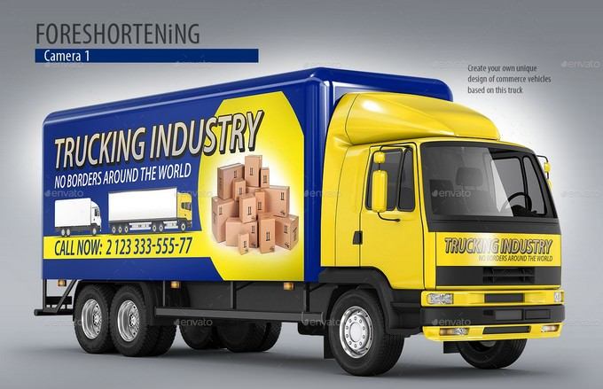 Commercial Truck Carrier PSD