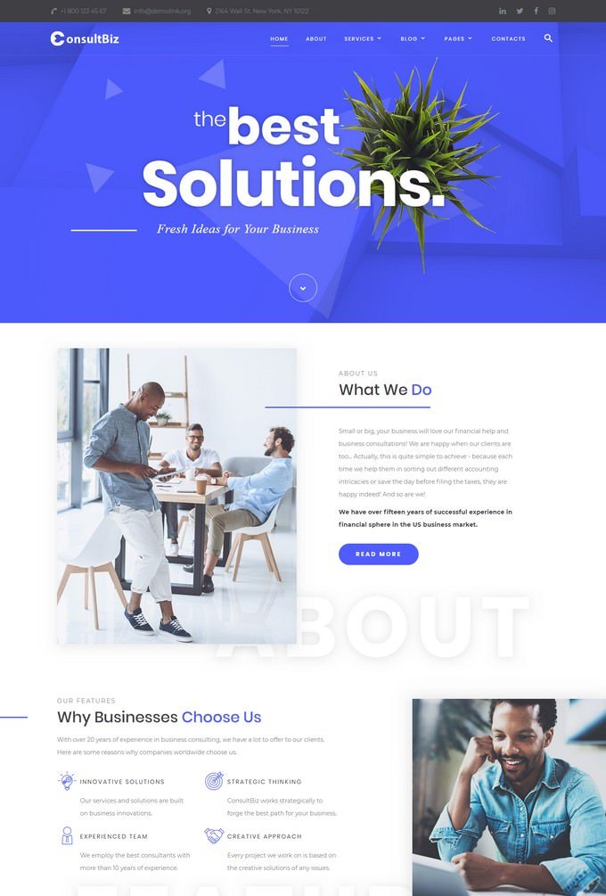 Financial Advisor HTML Website Template