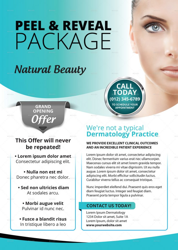 Cosmetic Package Flyer PSD