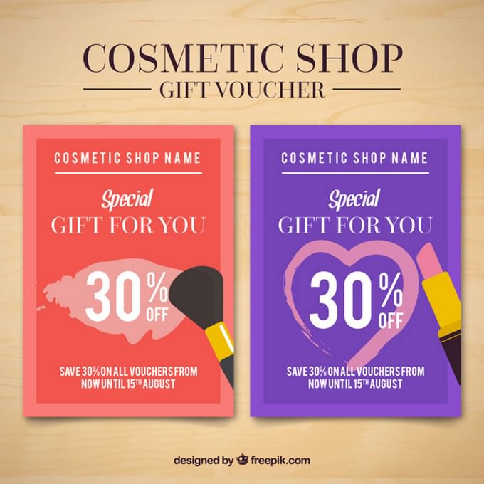 Cosmetic Products Flyers PSD