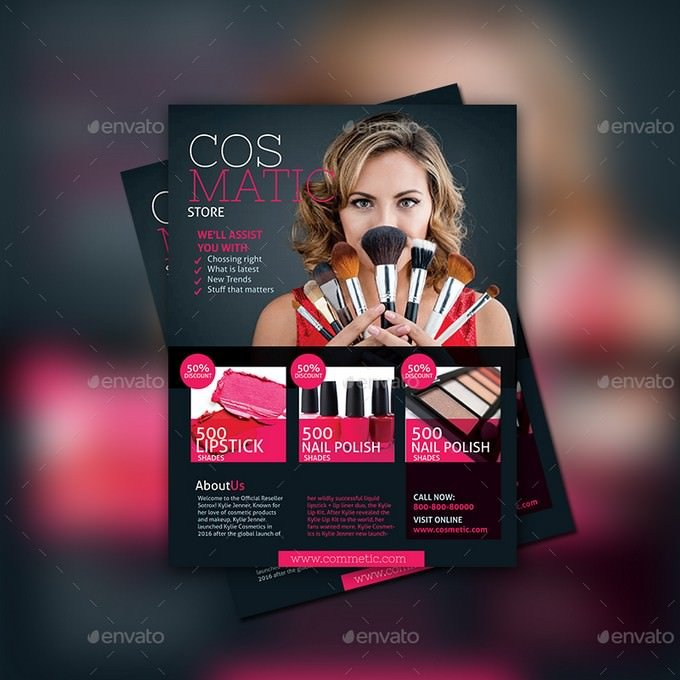 Cosmetic Store Flyer Template