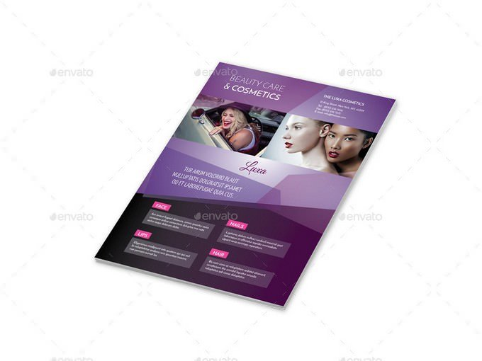 Cosmetics Flyers 4 Options Template
