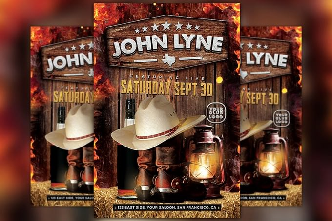 Country Artist Event Flyer
