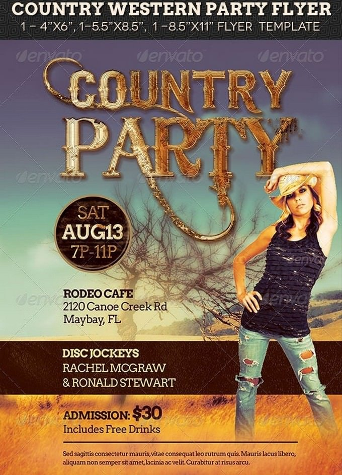 Country Western Party Flyer