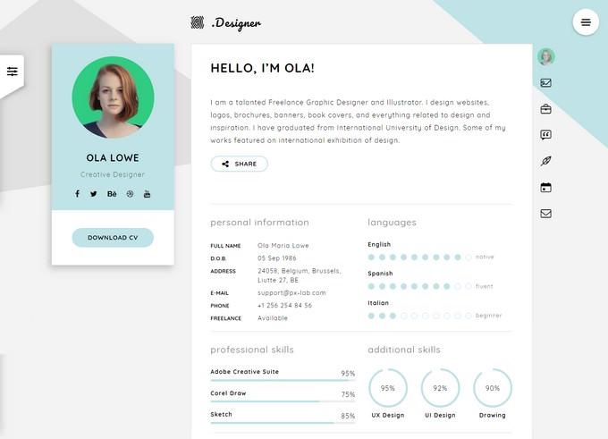 Creative Resume CV & vCard