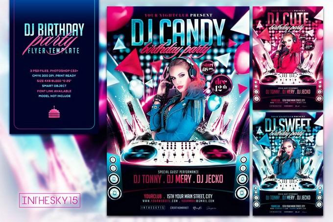 DJ Birthday Flyer