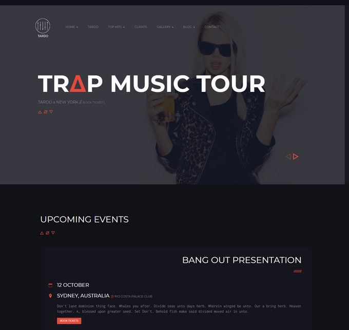 DJ TARDO Music & Producer Bootstrap Template