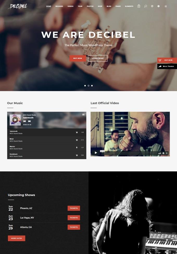 Decibel Music WordPress Theme