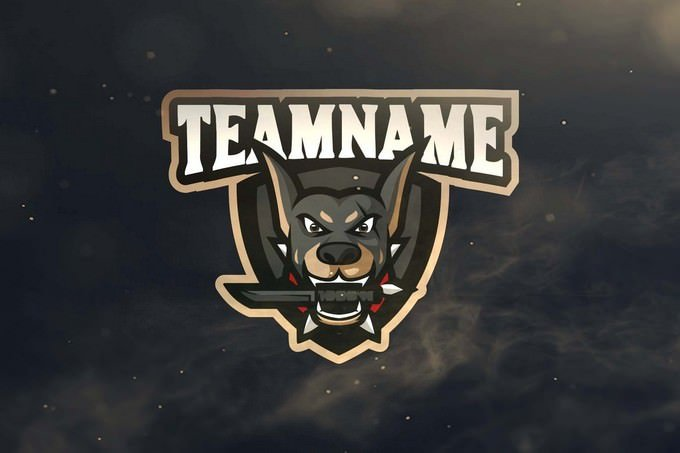 Dog Sport and Esports Logo Template