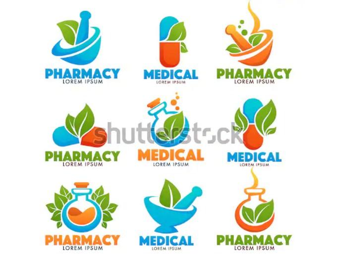 Eco Pharmacy, Glossy Shine Logo