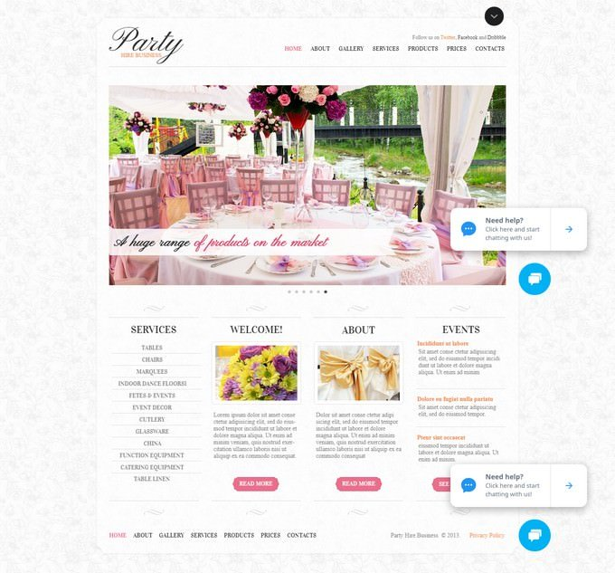 Event Planner Website Template with a Content Slider