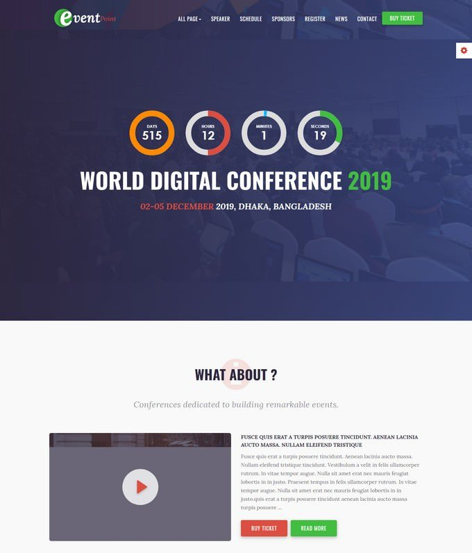 Event Point HTML5 Template