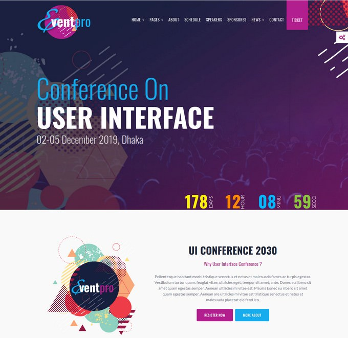 Event Pro Conference, Event & Meetup HTML Template