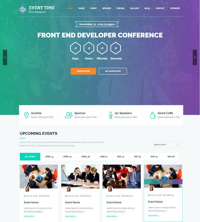 Event Time Conference & Event HTML Template