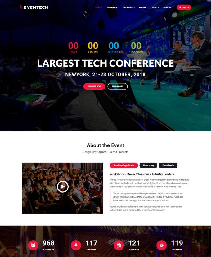 Eventech Website Template