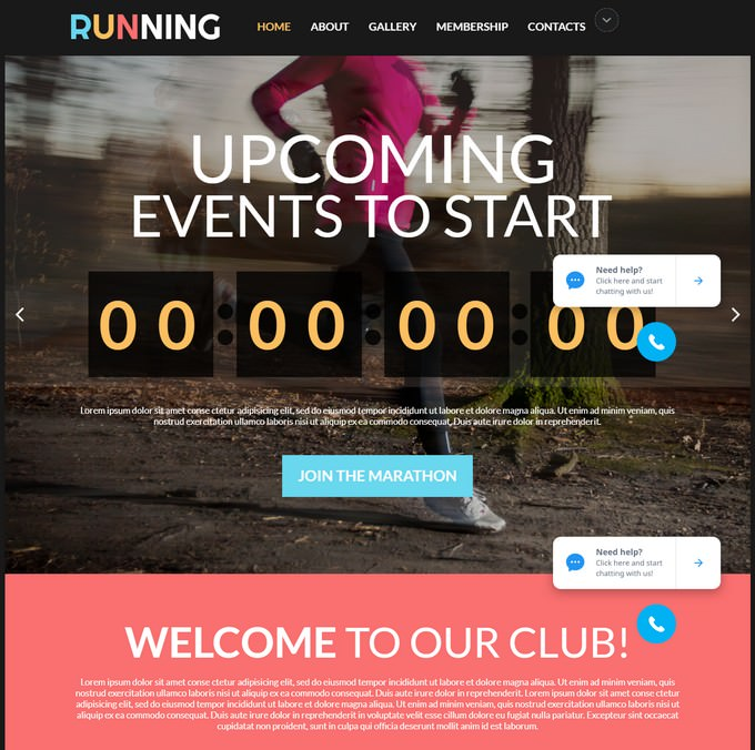 Events Sports Web Theme