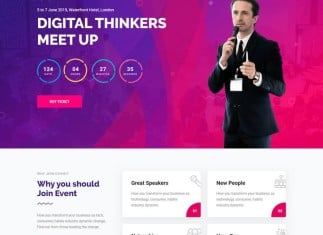 Exhibz Conference, Event Template