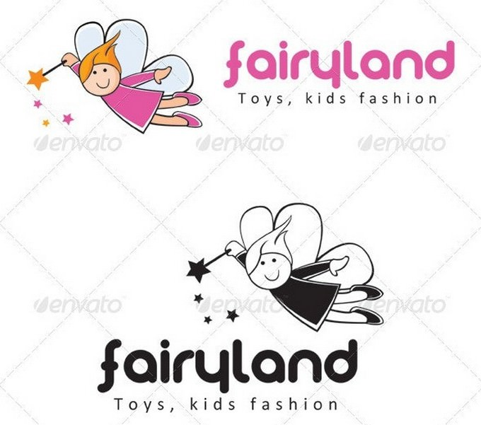 Fairy Land Kids Fashion Logo Template