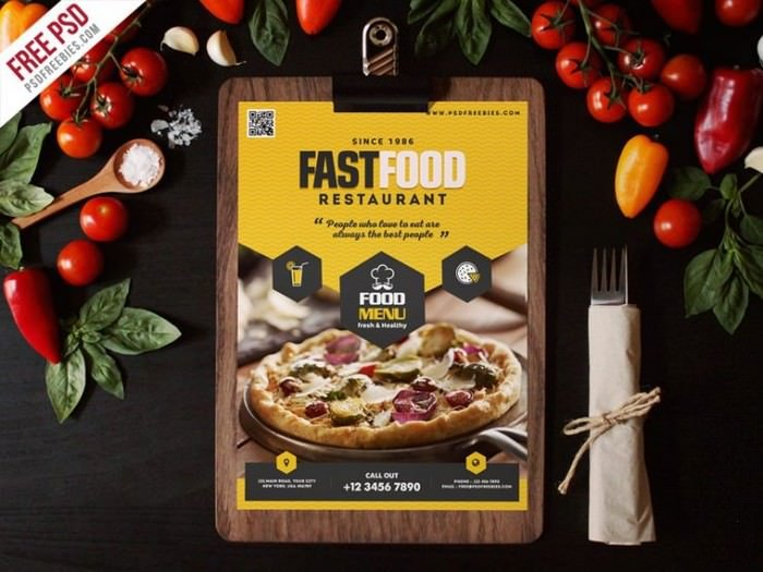 Fast Food Restaurant Menu Flyer