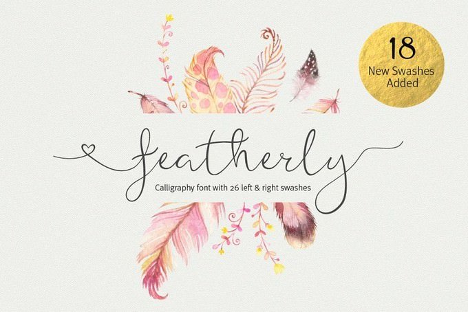 Featherly Font Wedding