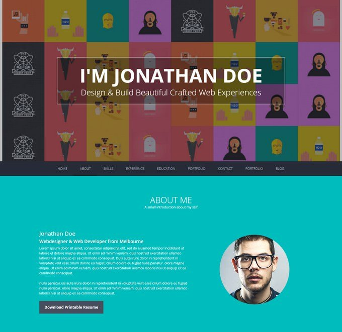 Flatoo Resume WordPress Theme