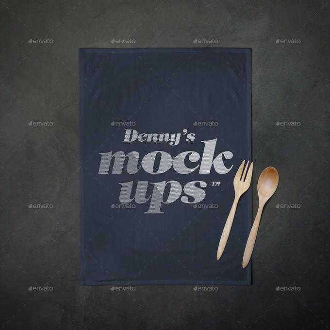 Flour Sack Towel Mockup PSD