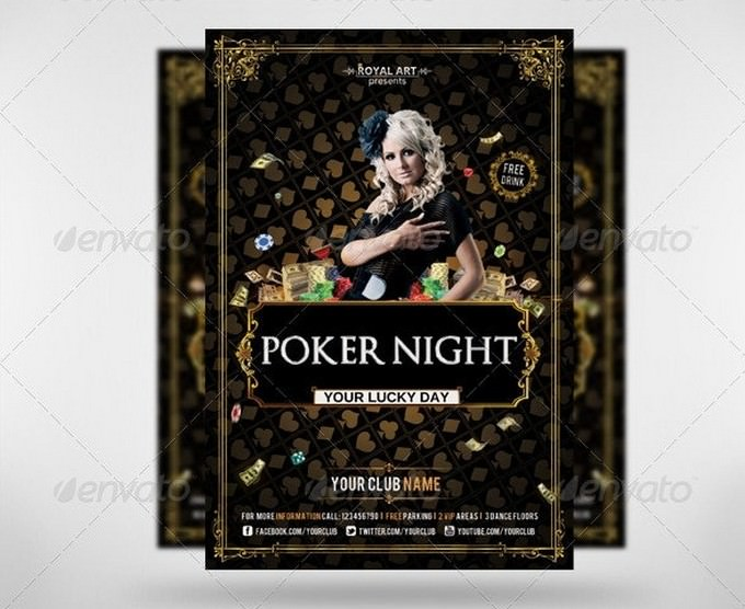 Flyer Poker Night Template