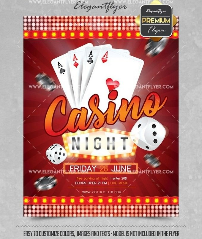 Flyer Template for Casino