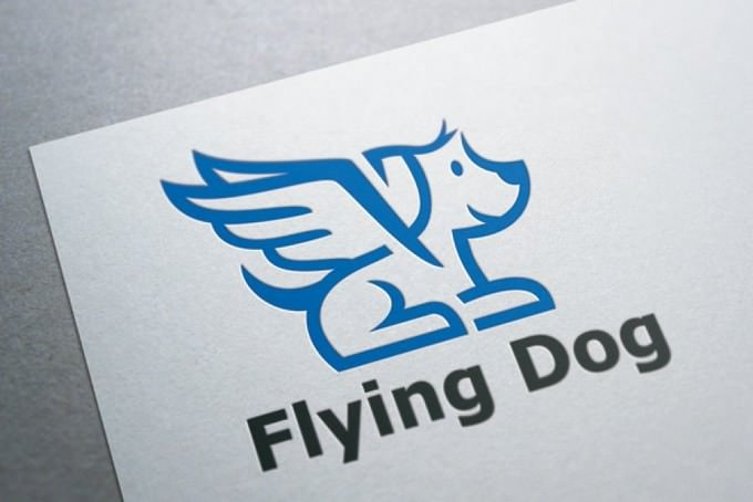 Flying Dog Logo Template