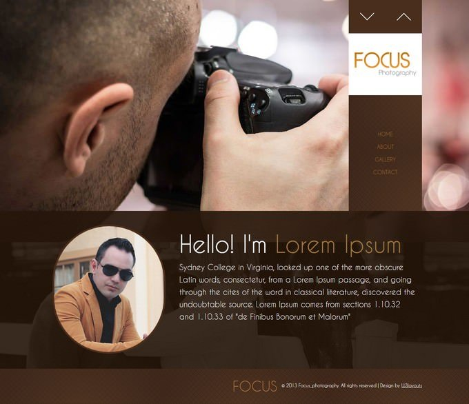 Photography Gallery Website Template