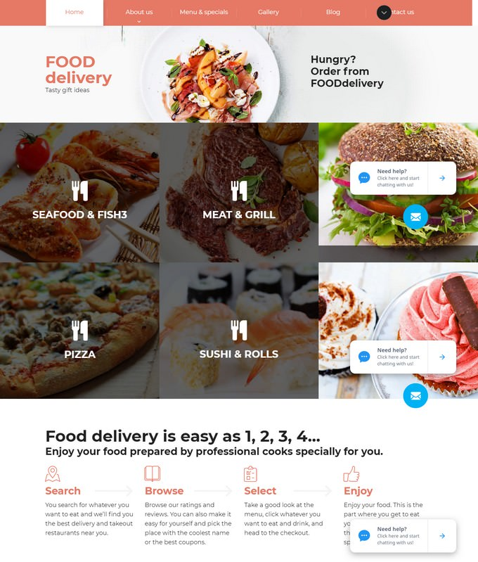 Food Delivery Website Template