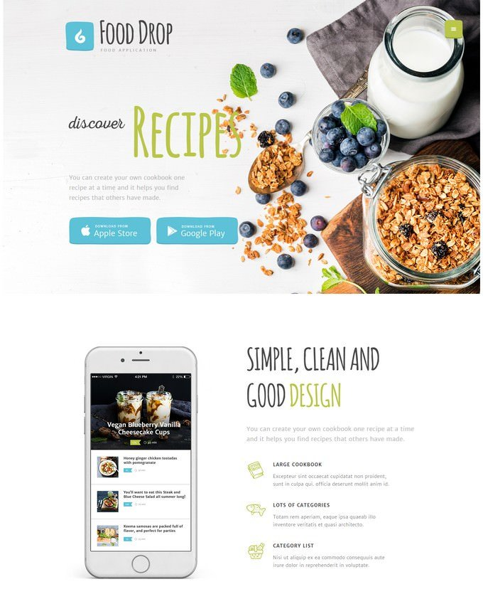 Drop Food Ordering & Delivery Mobile App WordPress Theme