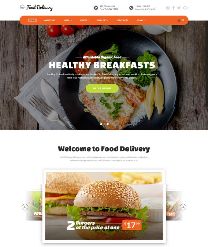 Ordering Service Website Template