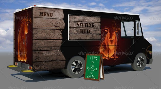 Food Truck Mock-Up PSD