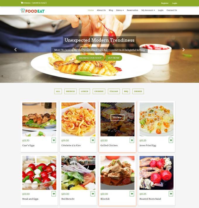 Foodeat Online Food Ordering WordPress Theme