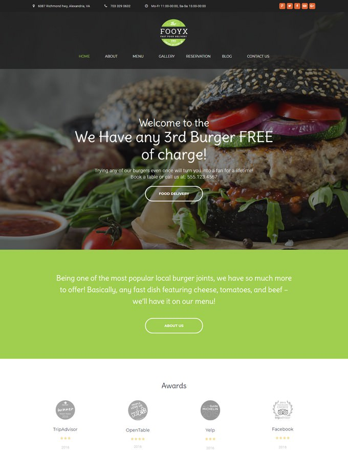 Food Delivery Service WordPress Theme