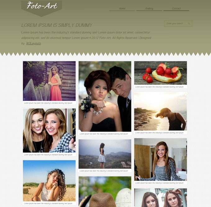 Foto Art Gallery Website Template