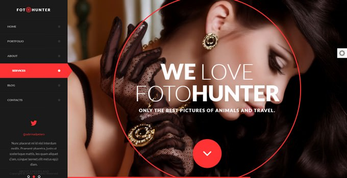 FotoHunter Creative Photographer Template