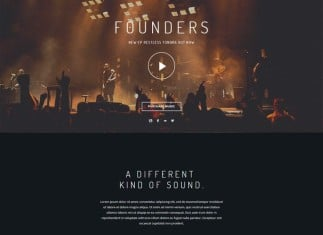 Foundry Music HTML Template