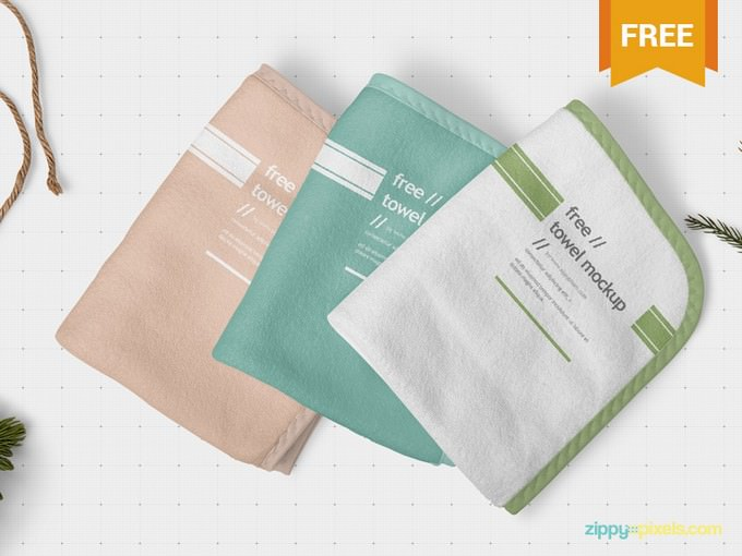 Beautiful Hand Towel Mockup