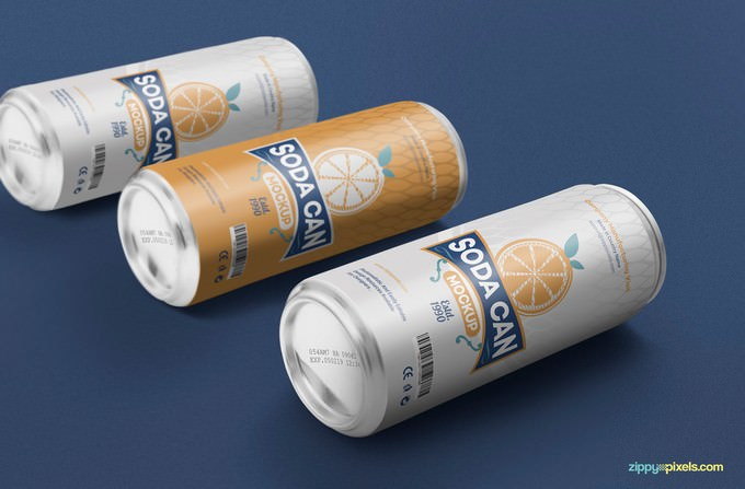 Beverage Can Mockup PSD