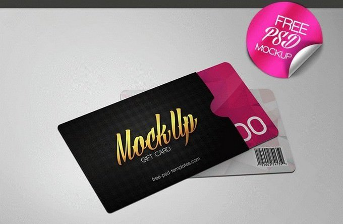15+ Top Gift Card PSD Mockup Templates 2019 - Templatefor