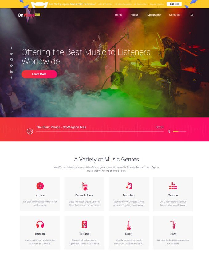 HTML5 Music Website Template