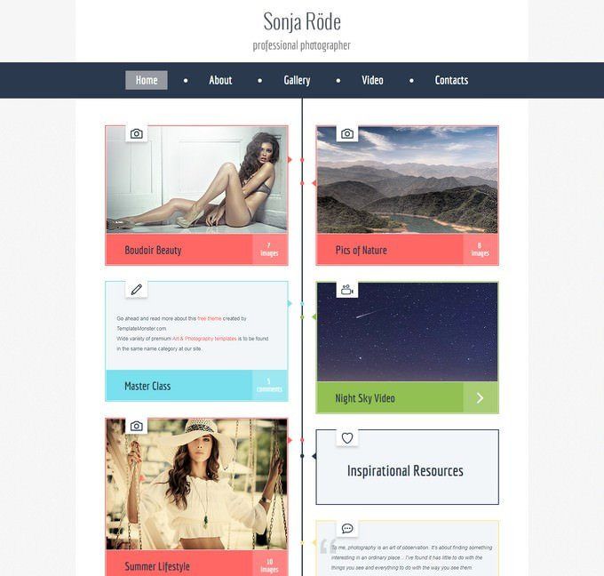 HTML5 Theme for Photography Site
