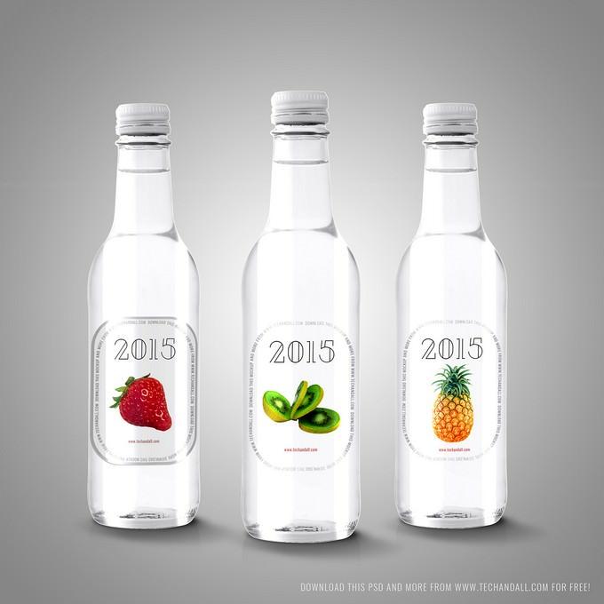 Mockup Labels on Bottles