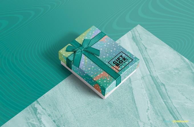 Photorealistic Gift Box Mockup PSD