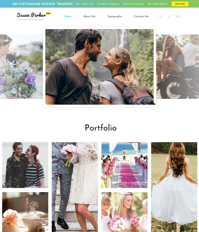 Responsive HTML5 Theme for Photo Site