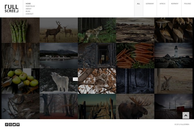 Fullscreen – Photography Portfolio Html5